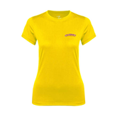 Ladies Syntrel Performance Gold Tee-Arched Salisbury University