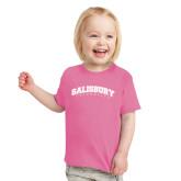 Toddler Fuchsia T Shirt-Arched Salisbury University