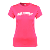 Ladies Performance Hot Pink Tee-Arched Salisbury University
