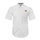 White Twill Button Down Short Sleeve-Sammy the Sea Gull