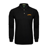 Black Long Sleeve Polo-Arched Salisbury University