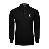 Black Long Sleeve Polo-Sammy the Sea Gull