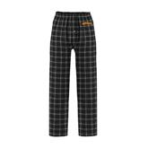 Black/Grey Flannel Pajama Pant-Arched Salisbury University