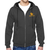 Charcoal Fleece Full Zip Hoodie-SU Sea Gulls