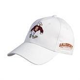 White Heavyweight Twill Pro Style Hat-Sammy the Sea Gull