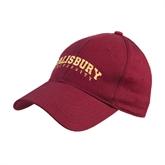Maroon Heavyweight Twill Pro Style Hat-Arched Salisbury University
