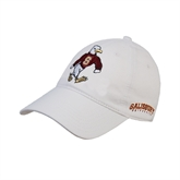 White Twill Unstructured Low Profile Hat-Sammy the Sea Gull