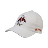 White OttoFlex Unstructured Low Profile Hat-Sammy the Sea Gull