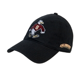 Black Twill Unstructured Low Profile Hat-Sammy the Sea Gull