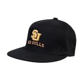 Black OttoFlex Flat Bill Pro Style Hat-SU Sea Gulls