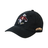 Black OttoFlex Unstructured Low Profile Hat-Sammy the Sea Gull