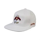 White OttoFlex Flat Bill Pro Style Hat-Sammy the Sea Gull