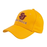 Gold Heavyweight Twill Pro Style Hat-SU Sea Gulls