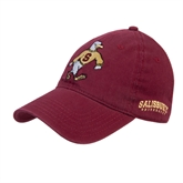 Maroon Twill Unstructured Low Profile Hat-Sammy the Sea Gull