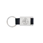 Leather Black Key Holder-Sammy the Sea Gull Engraved