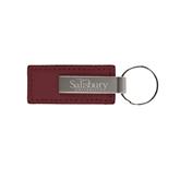 Leather Classic Maroon Key Holder-Salisbury University Engraved