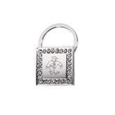Crystal Studded Square Key Holder-Sammy the Sea Gull Engraved