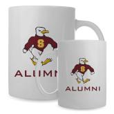 Alumni Full Color White Mug 15oz-Sammy the Sea Gull Alumni