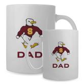 Dad Full Color White Mug 15oz-Sammy the Sea Gull Dad