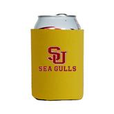 Neoprene Gold Can Holder-SU Sea Gulls