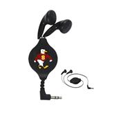 Black Retractable Ear Buds-Sammy the Sea Gull