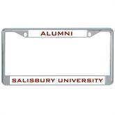 Metal License Plate Frame in Chrome-Alumni