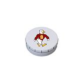 White Round Peppermint Clicker Tin-Sammy the Sea Gull