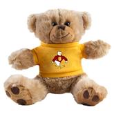 Plush Big Paw 8 1/2 inch Brown Bear w/Gold Shirt-Sammy the Sea Gull