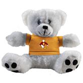 Plush Big Paw 8 1/2 inch White Bear w/Gold Shirt-Sammy the Sea Gull