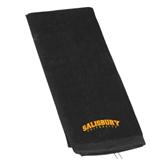 Black Golf Towel-Arched Salisbury University