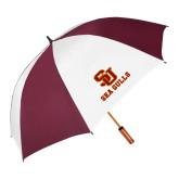 62 Inch Maroon/White Umbrella-SU Sea Gulls