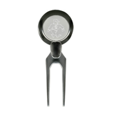 Silver Divot Tool/Ball Marker-Sammy the Sea Gull Engraved