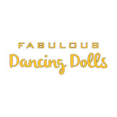 Medium Decal-Fabulous Dancing Dolls Wordmark, 8in Wide