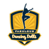 Large Decal-Fabulous Dancing Dolls Official Mark, 12in Tall