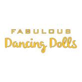 Large Decal-Fabulous Dancing Dolls Wordmark, 12in Wide
