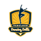 Small Decal-Fabulous Dancing Dolls Official Mark, 6in Tall