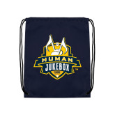 Navy Drawstring Backpack-The Human Jukebox Official Mark