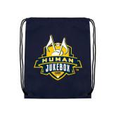 Navy Drawstring Backpack-The Human Jukebox Official Mark