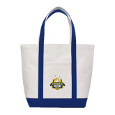 Contender White/Navy Canvas Tote-The Human Jukebox Official Mark
