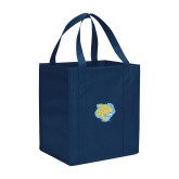Non Woven Navy Grocery Tote-Jaguar Head
