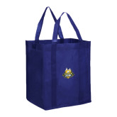 Non Woven Navy Grocery Tote-The Human Jukebox Official Mark