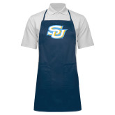 Full Length Navy Apron-Interlocking SU