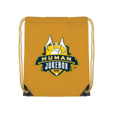 Gold Drawstring Backpack-The Human Jukebox Official Mark