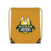 Gold Drawstring Backpack-The Human Jukebox Official Mark