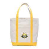 Contender White/Gold Canvas Tote-The Human Jukebox Official Mark