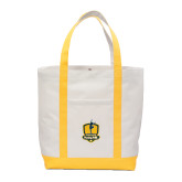 Contender White/Gold Canvas Tote-Fabulous Dancing Dolls Official Mark
