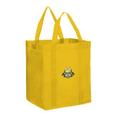 Non Woven Gold Grocery Tote-The Human Jukebox Official Mark
