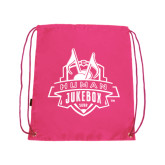Pink Drawstring Backpack-The Human Jukebox Official Mark