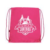 Pink Drawstring Backpack-The Human Jukebox Official Mark