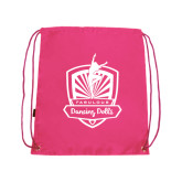 Pink Drawstring Backpack-Fabulous Dancing Dolls Official Mark